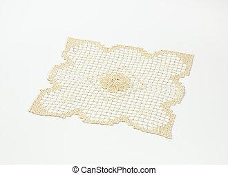 Crochet place mat - Vintage square crochet place mat