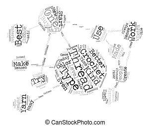 crochet thread Word Cloud Concept Text Background