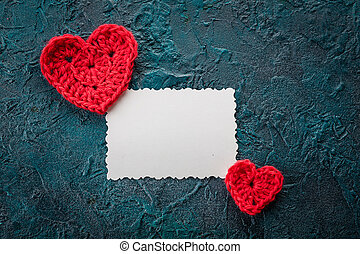 Crochet valentine hearts. - Three crochet valentine hearts...