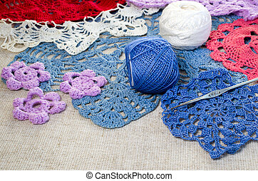 crocheted lace napkins