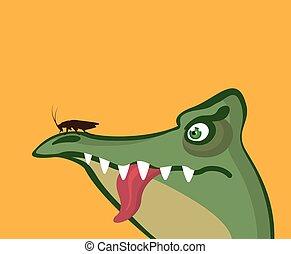 Crock Frog Cartoon