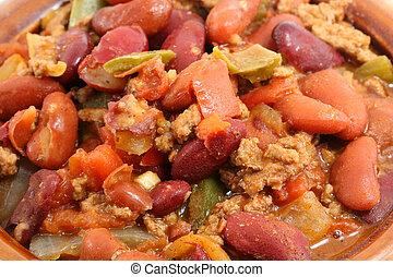 Crock of chili