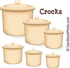 Crocks with lids