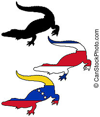 crocodile, amérique, sud
