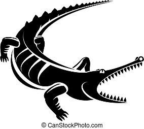 Isolated shape of crocodile as a mascot