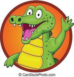 Crocodile cartoon  - Vector Illustration Of