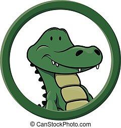 Crocodile circle banner