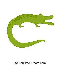 Crocodile colorful flat icon in Cartoon Style. Vector Illustration.