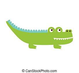 crocodile cute isolated icon