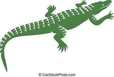 crocodile design (alligator symbol, crocodile icon)