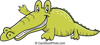 Alligator crocodile caract re ou dessin anim t te ou alligator caract re sports - Dessin anime crocodile ...