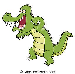 Regarder mignon crocodile mignon gradient non illustration vectorielle rechercher - Dessin anime crocodile ...