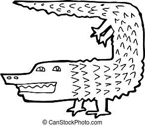 Vecteurs de crocodile dessin anim crocodile vecteur dessin anim csp23193936 - Dessin anime crocodile ...