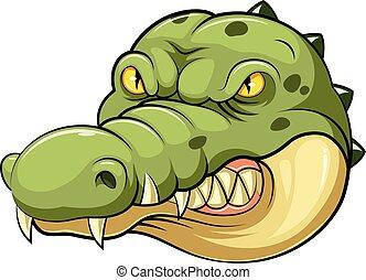 crocodile head mascot
