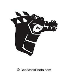 Crocodile Head mascot sport design Template Isolated