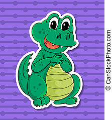 Crocodile - Illustration of a close up crocodile