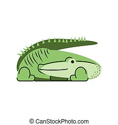 crocodile jungle animal in cartoon abstract design