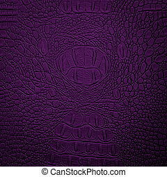 crocodile leather purple