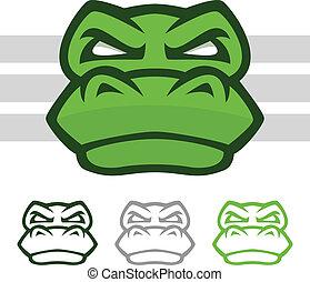Crocodile Mascot - Illustration of a mean looking crocodile...