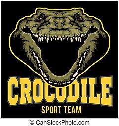 Crocodile mascot for a sport team. Vector illustration.