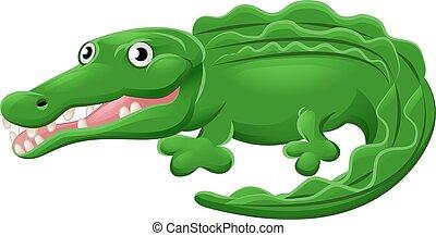Crocodile or Alligator Animal Cartoon Character