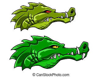 Crocodile or alligator mascot
