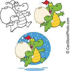 Crocodile Santa Collection Set