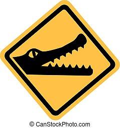 Crocodile Sign