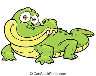 Crocodile - Vector illustration of Cartoon crocodile