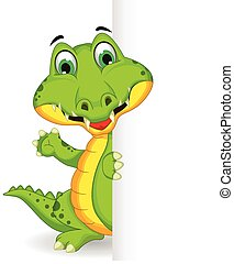crocodile, vide, tenue, signe