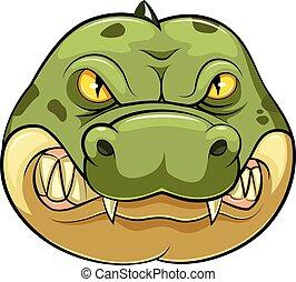 Crocodile wild animal head mascot
