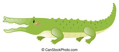 Crocodile with happy face