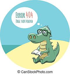 crocodilo, com, um, livro, -, erro, 404