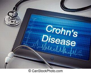 crohn's, mots, maladie, tablette, exposer
