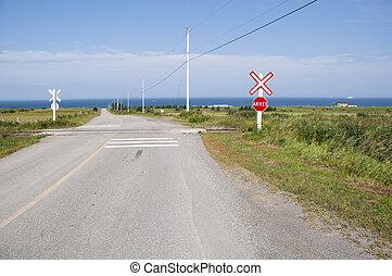 croisement, chemin fer