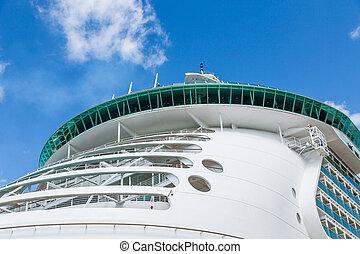 croisière bateau, balcons, rond, arc