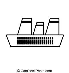 croisière bateau, ligne, maritime, voyage