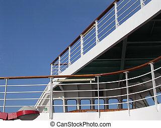 croisière bateau, pont