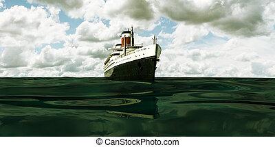 croisière bateau, vieux