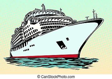 Bateau Voyage Dessin Animé Mer Croisière 10 Voyage