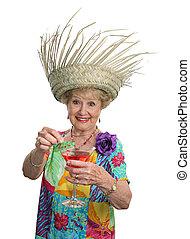 croisières, &, -, cocktails, personne agee, dame