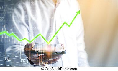 croissance, concept affaires