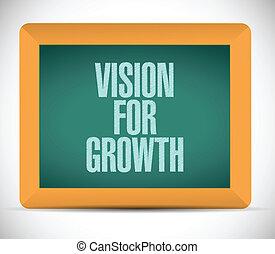 croissance, conception, vision, illustration