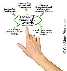 croissance, conduite, business
