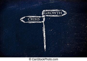 croissance, direction?, droit, vs, crise