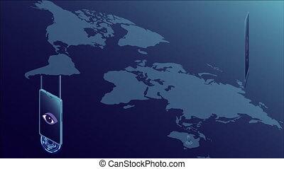 croissance, mondiale, concentré, connectivité, téléphones, sur