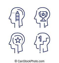 croissance, profil, formation, concept, employé, direction, humain, mois, tête, motivation