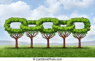 croissance, réseau