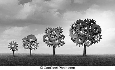 croissance, reussite, concept affaires