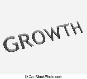 croissance, texte, vecteur, conception